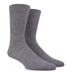 Gerippte Socken aus Wolle - Grau