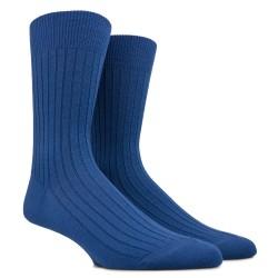 Blaue Dore Dore gerippte Wollsocken