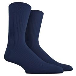 Gerippte Socken aus merzerisierter Baumwolle - Hellblau