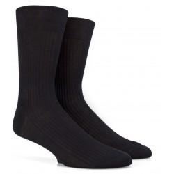 Schwarze Socken aus 100% merzerisierter Baumwolle