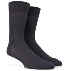 Dunkelgraue Socken aus 100% merzerisierter Baumwolle