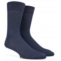 Blaue Socken aus merzerisierter Baumwolle