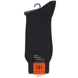 Gerippte Socken aus Wolle - Schwarz