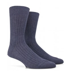 Denimblaue Wollsocken