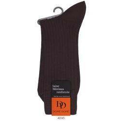 Socken aus Wolle - Braun